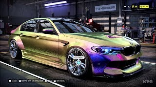 Need for Speed Heat - BMW M5 2018 - Customize | Tuning Car (PC HD) [1080p60FPS]