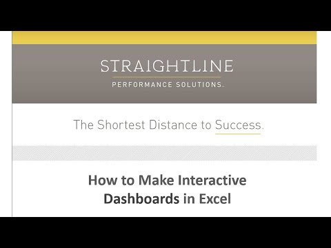 How to Make Interactive Dashboards in Excel