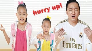 Hurry to school and Put on your shoes song |  | Kids song & Nursery rhymes | 아침에 학교 가기 대 소동
