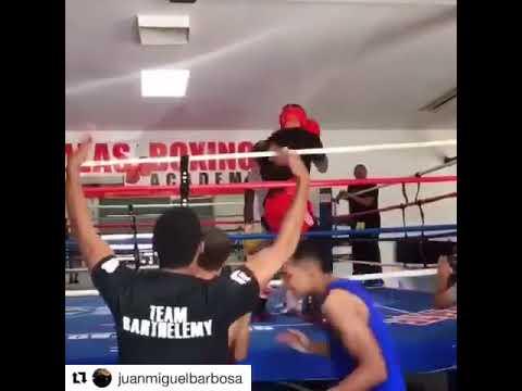 Brutal Sparring de Yordenis Ugas con Gabe Rosado