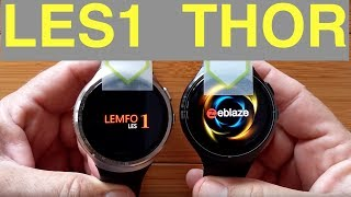 LEMFO LES1 vs Zeblaze THOR 16GB Android Smartwatches: Which should you buy?