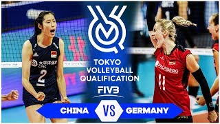 China vs Germany | Highlights - Women | Volleyball Olympic Qualifying Tournament 2019 (HD)