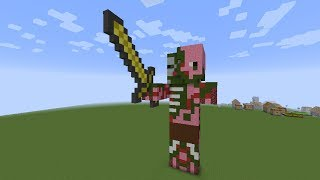 как построить Свинозомби(Zombie Pigman) в minecraft