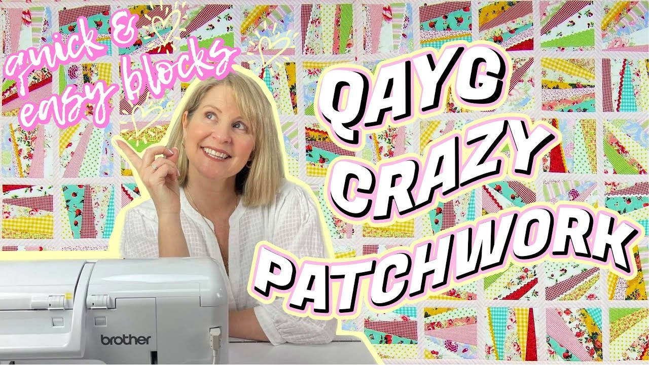 How to make a quilt as you go, reversible, crazy patchwork quilt.