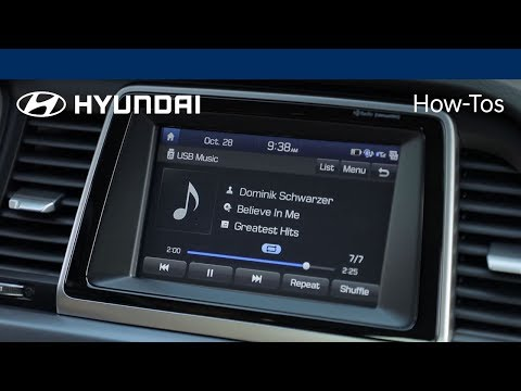 How to play music using a USB stick | Hyundai