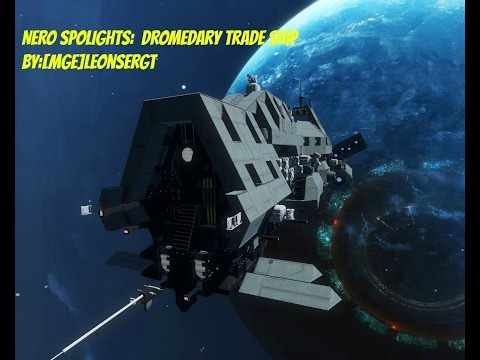 Space Engineers: Spotlights Dromedary Trade Ship