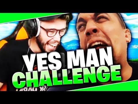 YES MAN CHALLENGE SUR FORTNITE AVEC TK !! #1