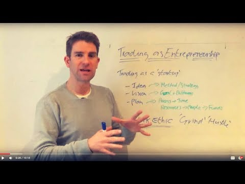 Trading As Entrepreneurship: Trading As A Business 👍