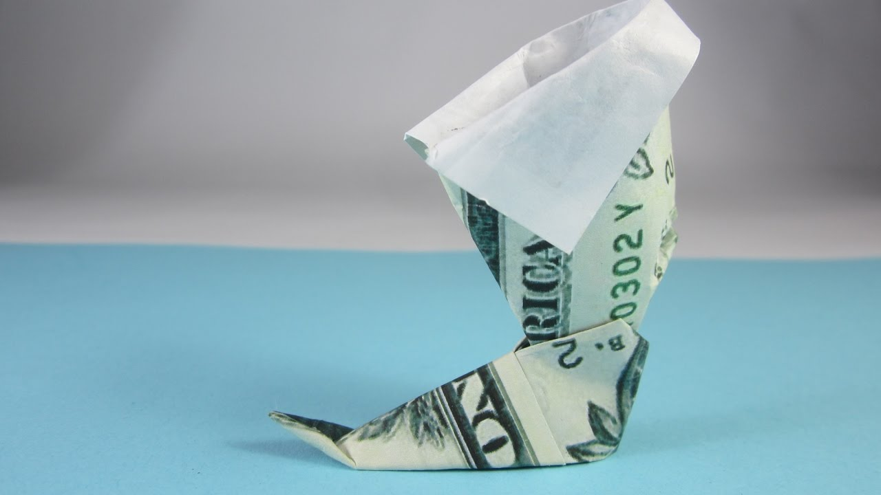 Easy dollar bill origami boot origami money youtube easy dollar bill origami boot origami money jeuxipadfo Image collections