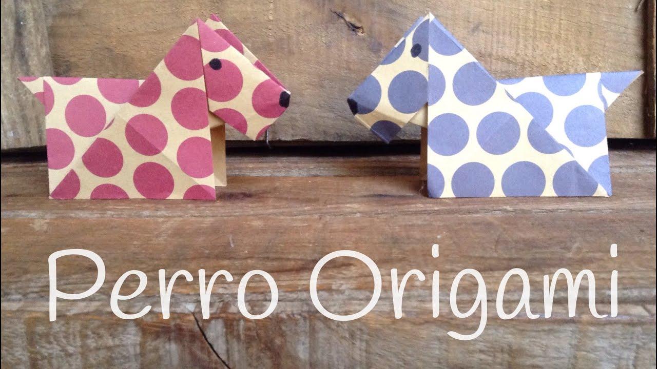PERRO de origami paso a paso   ORIGAMI fácil para niños - YouTube