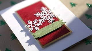 Holiday Card Series 2018 - Day 23 - Intricate Pattern Embossing