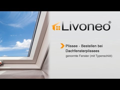 plissee f r genormte dachfenster mit typenschild bestellen youtube. Black Bedroom Furniture Sets. Home Design Ideas