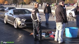 Surprisingly Quick EcoBoost Mustang Explodes Guts after Killing a GT