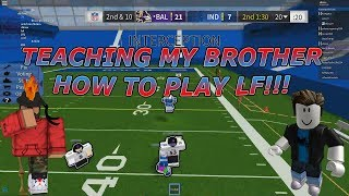 TEACHING MY BROTHER HOW TO PLAY LEGENDARY FOOTBALL!!! - Legendary Football Funny moments #4