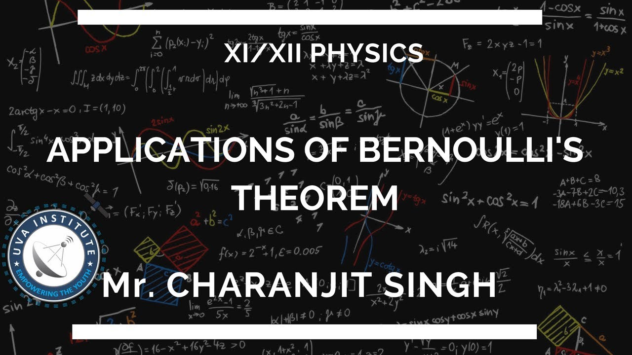 Applications of Bernoulli's Theorem by Mr  Charanjit Singh |Physics 11th  Class &12th Class|