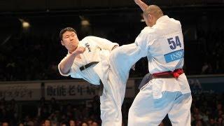 山田一仁vs塚越孝行 The 42th All Japan Open Karate Tournament Quarte...