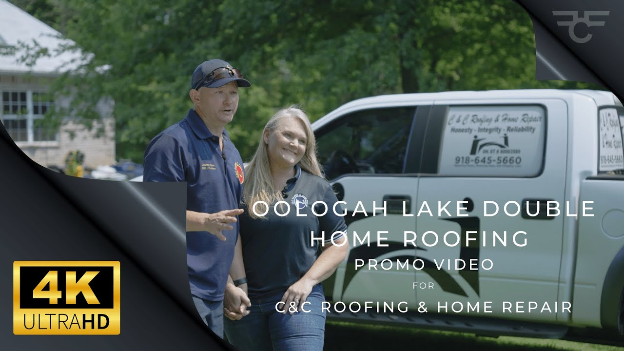 Cinematic 4K UHD - C&C Roofing & Home Repair - Double Family-Owned Lake Homes Project