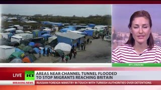 Anti-migrant moat in Calais: Operator floods areas near Eurotunnel