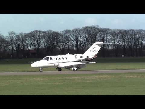 Citation D-IBWA arrival at teuge airport 26-02-2014