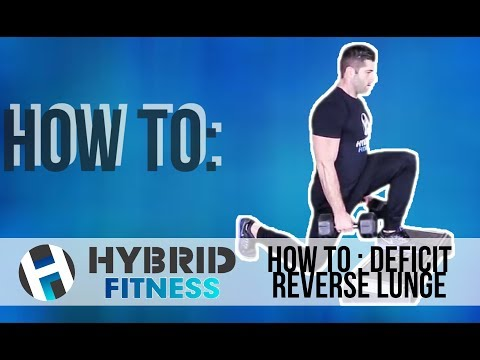 How to: Deficit Reverse Lunge   Try These To Target Glutes!