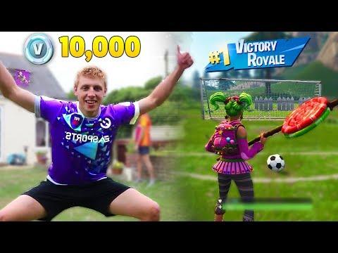 Kid Wins $10,000 V-Bucks Every Soccer Goal He Scores Vs W2S