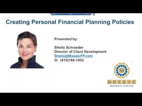 Mosaic Financial Partners: Creating Personal Financial Planning Policies with Sheila Schroeder