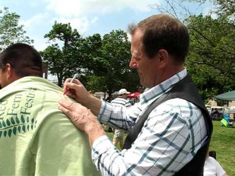 Stewart Peterson Signs An Autograph