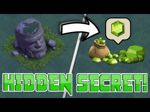 CLASH OF CLANS HIDDEN SECRET: REMOVING THE OLD BARBARIAN STATUE! | WHAT'S INSIDE IT!!