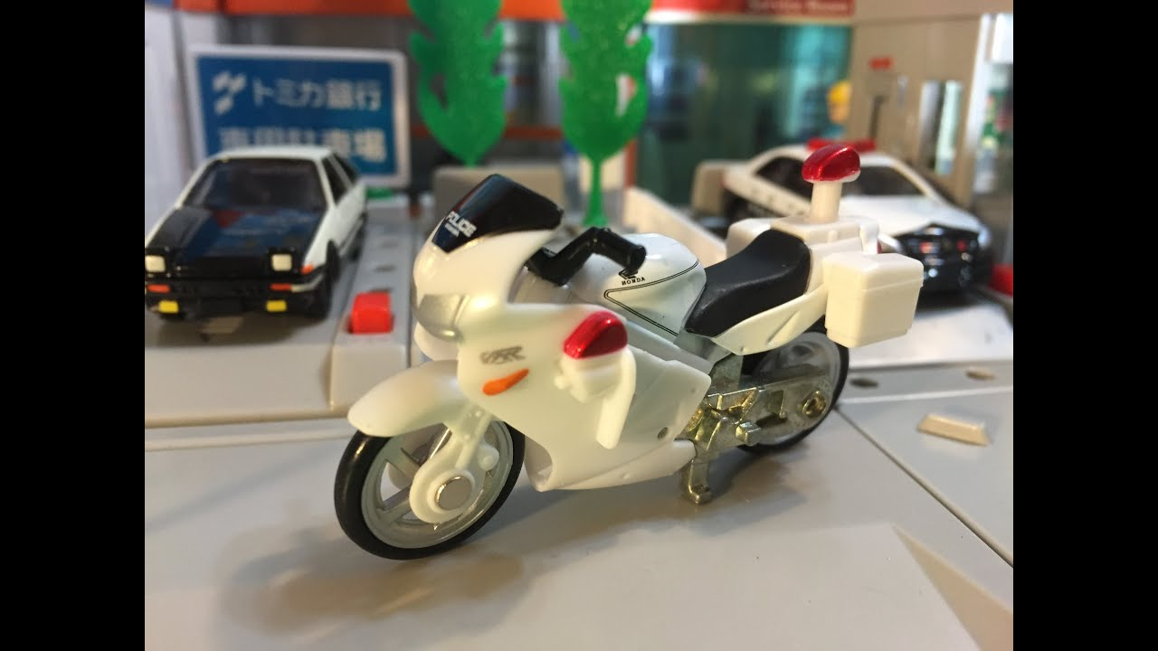 Tomica 4 Honda Vfr Police Bike 1 32 00278 Youtube