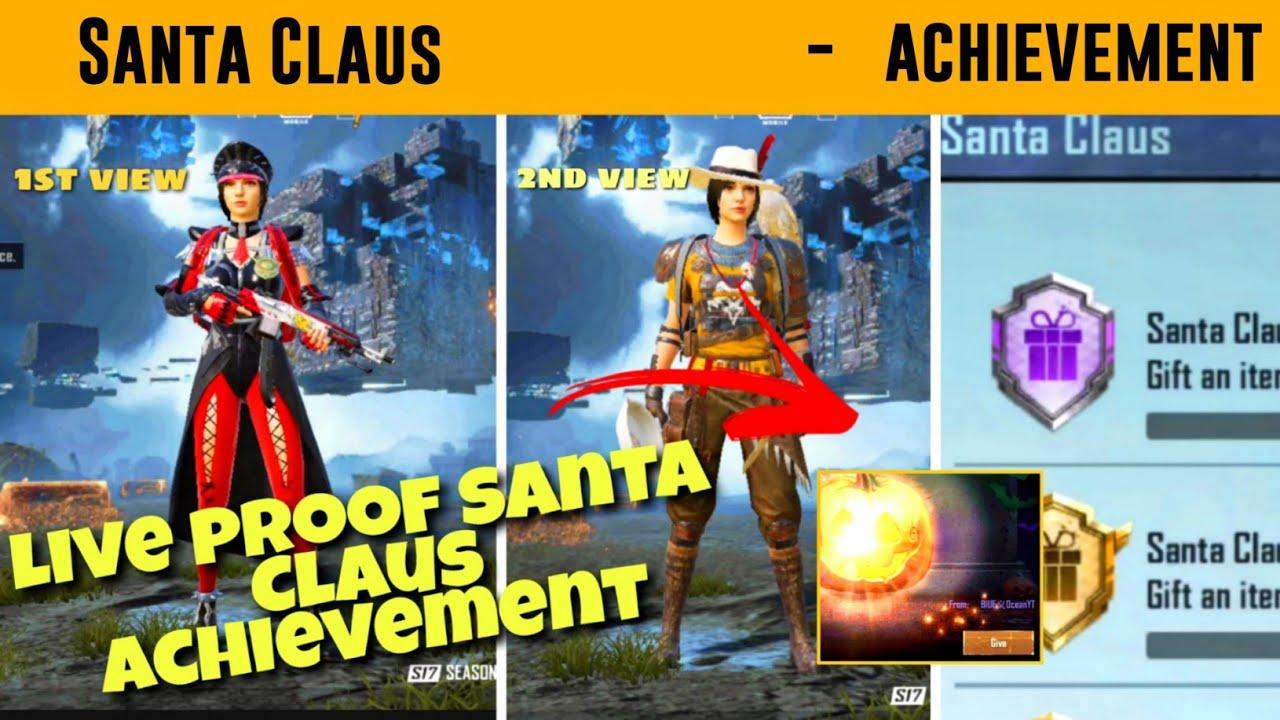 Download Santa Claus achievement pubg mobile। gift an item to a friend pubg mobile achievement fast trick