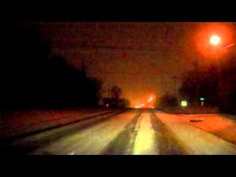 Snowy drive to Portland TN