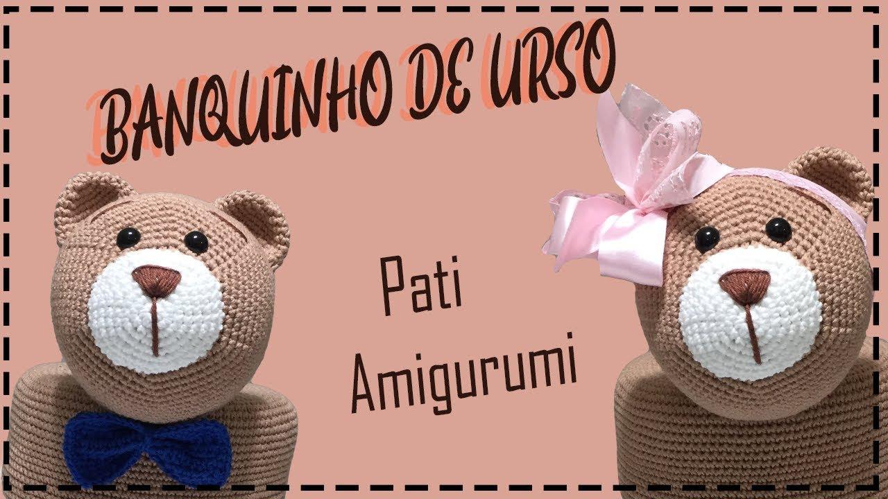 Amigurumi Urso Branco E Rosa Em Crochê Sob Encomenda - R$ 169,99 em Mercado  Livre | 720x1280