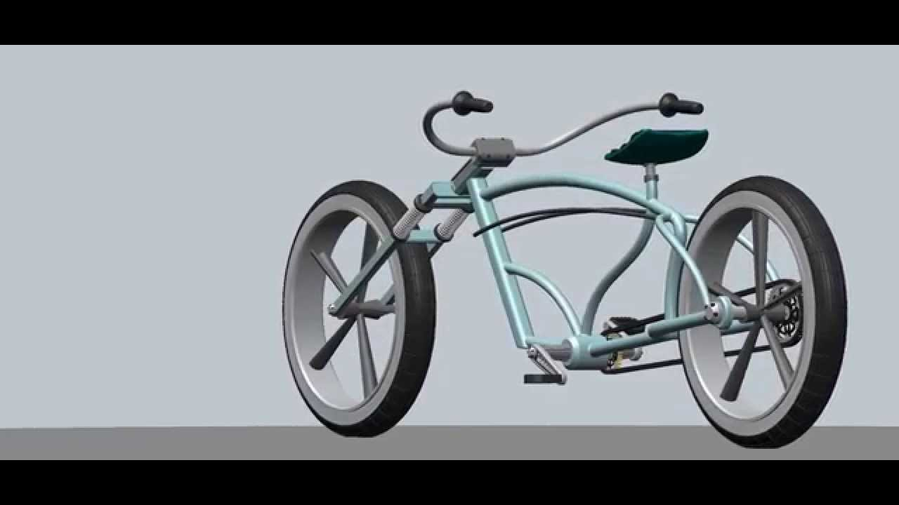 Beach Cruiser Stretched Bicycle Concept Layout 1 Youtube