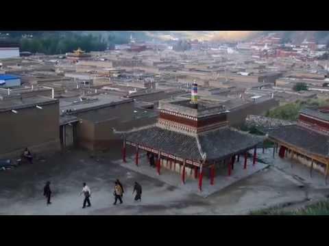 甘肅夏河拉卜楞寺的早晨