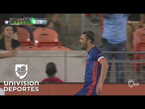 David Villa sorprendió a todos en el Dynamo y anotó el 1-0 para New York City
