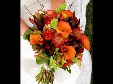 Beautiful Fall Wedding Flowers  YouTube