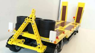 Remote controlled Lego MAN TGS 8x4 Dump Truck with trailer and flashing lights