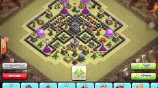Meilleur village/vivi [anti 2-étoiles] pour hotel de ville/hdv de niveau 9 rush/gdc clash of clans
