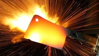 2000°F Cleaver vs Lighters - in 4K Slow Motion