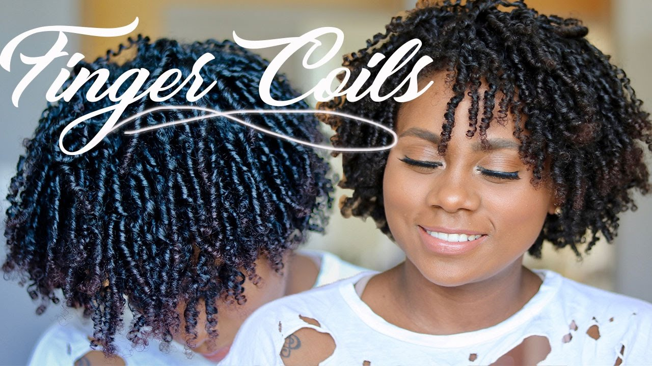 Natural Hair Finger Coils How To Finger Coils Natural Hair Ft Eco Styler Black