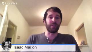 ISAAC MARION - Live Reading and Q&A Session - The Pixel Reveal Launch Google Hangout Sessions
