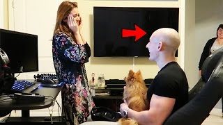 SHAVING MY HEAD BALD PRANK ON GIRLFRIEND!! (SHE CRIED)