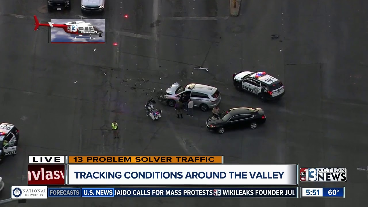 TRAFFIC ALERT: Crash on Las Vegas Boulevard near Sands