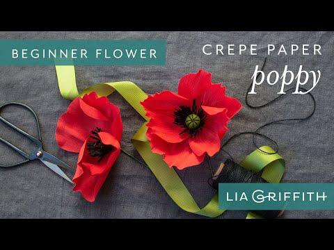 How to Make a Crepe Paper Poppy Bloom - Enchanted Garden Starter Flower