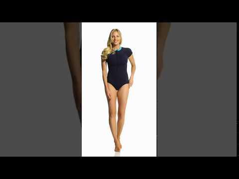 anne-cole-women's-laser-dot-s/s-front-zip-one-piece-swimsuit-|-swimoutlet.com