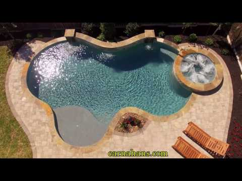 Custom Pool & Spa Build By Carnahans In The Woodlands, TX