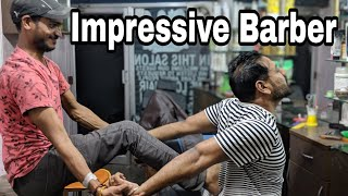 ASMR Intense head massage, neck cracking, chest massage, back massage by indianbarber