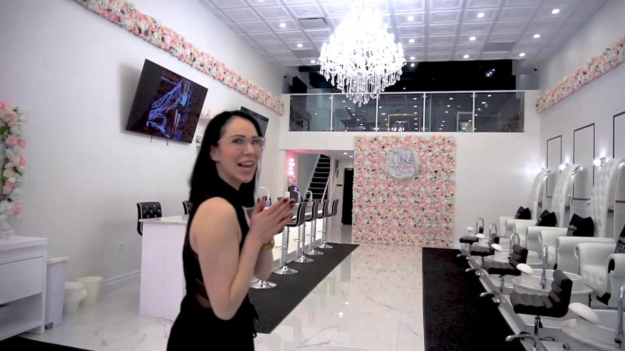 Follow me in my walkthrough at Luxe Nail Bar - my new PMU Studio