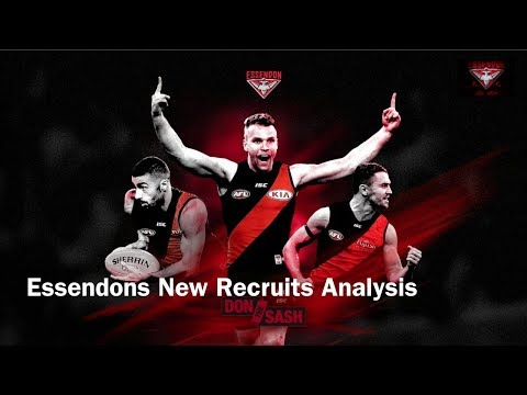 Essendons New Recruits Analysis - All New Footage of the Big 3 in Action in Training