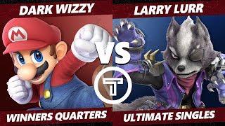 Thunder Smash 3 SSBU - MVG Dark Wizzy (Mario) VS T1 Larry Lurr (Wolf) Smash Ultimate Winners Quarter
